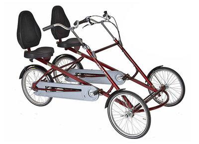 Fiets - Twinbike met zitjes