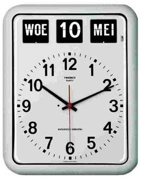 Kalenderklok BQ12 wit