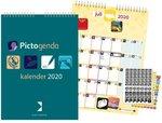Pictogenda kalender 2020 - De Pictogenda kalender is een maandkalender met pictogramstickers voor iedereen die beelden makkelij