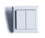 Wandschakelaar dubbel zonder batterij | Casenio