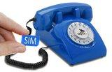 Seniorentelefoon met sim-kaart - Nostalgisch - Klassiek jaren '60 ontwerp - Opis (Draaischijf) Blauw