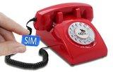 Seniorentelefoon met sim-kaart - Nostalgisch - Klassiek jaren '60 ontwerp - Opis (Draaischijf) Rood