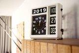 Jumbo klok - Dag, datum en tijd - Wit