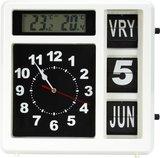 Jumbo klok - Dag, datum en tijd - Wit (met weerstation)_