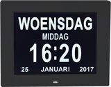 Digitale Dementieklok - Kalenderklok - Zwart_