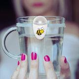 Ulla - Geheugensteun om voldoende te drinken - Wit met bij