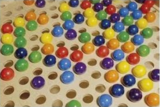 Speeltafel houten ballen - XL