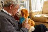 Knuffeldieren - Interactieve robot Hond - Gevlekt - Speciaal voor ouderen met dementie