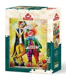 Puzzel - 260 XL stukjes - Muziek Clowns