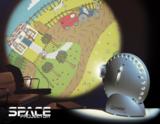 Space Projector - Gekleurde afbeelding: set met 3 wielen_