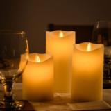 Elektrische wax kaarsen - Levensechte vlam (3 Stuks)_