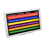 !WIN! DayClock 10 - Kalenderklok - Met stijlvolle lijst - Op afstand te beheren. _