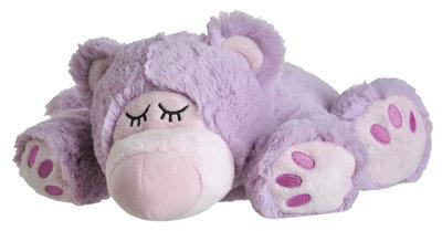Warmte dier - Sleepy Bear lila (uitneembare vulling)