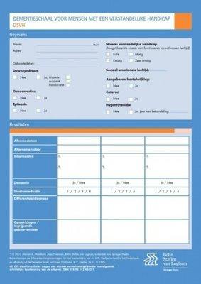 Dementieschaal voor mensen met een verstandelijke handicap DSVH. Set van 25 formulieren.