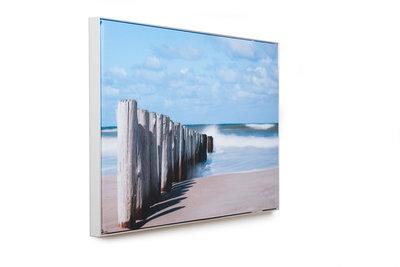 Fotopaneel met natuurfoto aan de muur (niet verlicht)