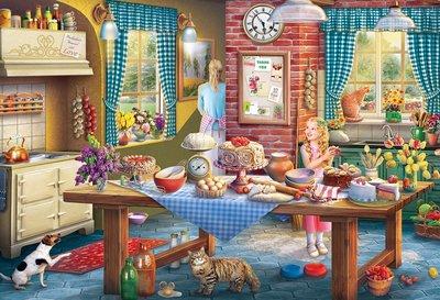 Puzzel - 100 extra grote puzzelstukken - Katten stelen een plakje