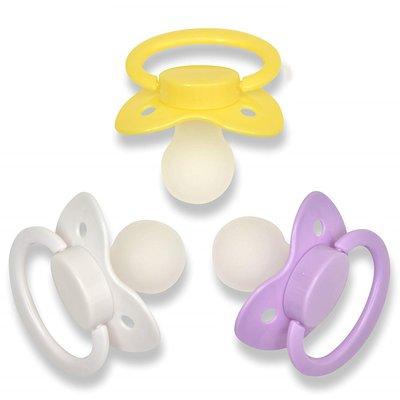 Rustgevende speen voor volwassenen - geel|wit|paars