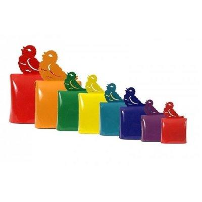 Muziekinstrument - Muziekklok, set van 8 in kleur