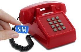 Seniorentelefoon met sim-kaart - Klassiek jaren '70 ontwerp - Opis (Druktoetsen)