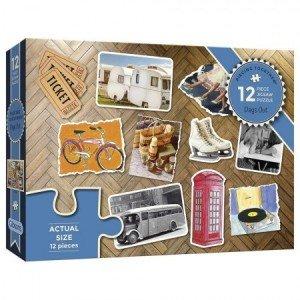 Puzzel - 12 extra grote puzzelstukken - Dagjes uit
