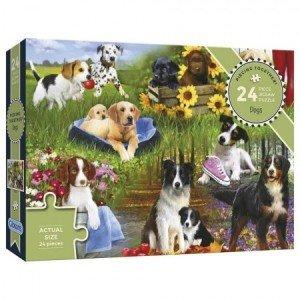 Puzzel - 24 extra grote puzzelstukken - Honden