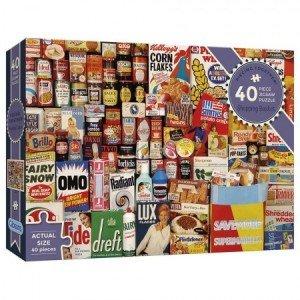Puzzel - 40 extra grote puzzelstukken - Winkelmandje