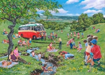 Puzzel - 250 extra grote puzzelstukken - Zondag Picknick