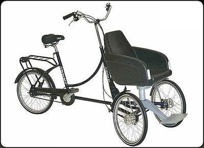Fiets - Rider Plus (driewieler met zitje voor)