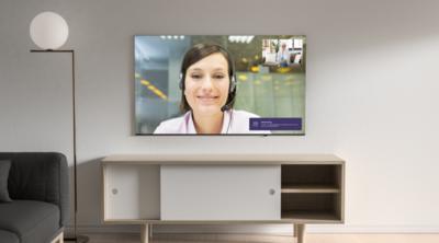 Femly - beeldbellen via de televisie voor zorgprofessionals