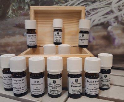 12 Bekende Geuren - complete set in houten opbergkistje