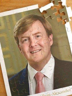 Puzzel Koning Willem-Alexander - met extra grote stukken