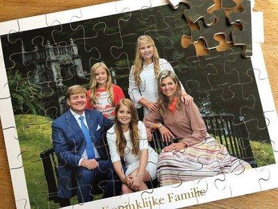 Puzzel Koninklijke familie - met extra grote stukken