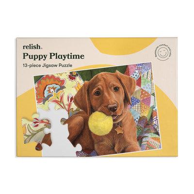 Puzzel - Spelende Puppy - 13 puzzelstukken - Jigsaw Puzzles
