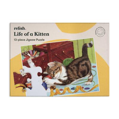 Puzzel - Het leven van een Kitten - 13 puzzelstukken - Jigsaw Puzzles