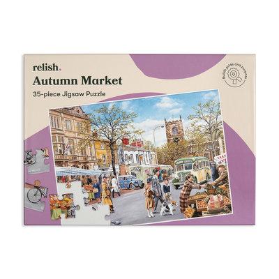 Puzzel - Herfstmarkt - 35 puzzelstukken - Jigsaw Puzzles