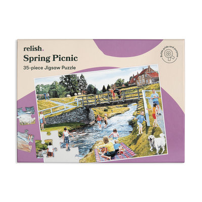Puzzel - Lente picknick - 35 puzzelstukken- Jigsaw Puzzles