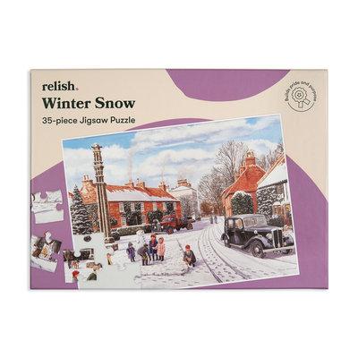Puzzel - Wintersneeuw - 35 puzzelstukken- Jigsaw Puzzles