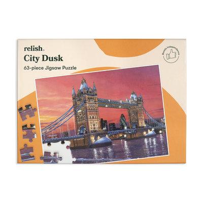 Puzzel - Stads zonsondergang - 63 puzzelstukken - Jigsaw Puzzles
