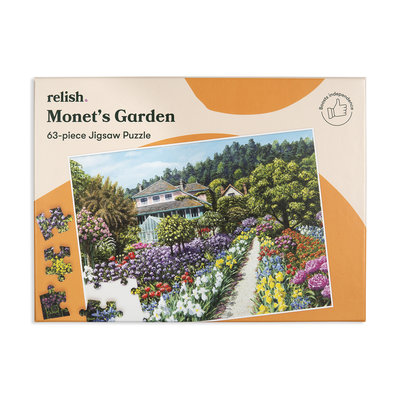 Puzzel - Monet's tuin - 63 puzzelstukken - Jigsaw Puzzles