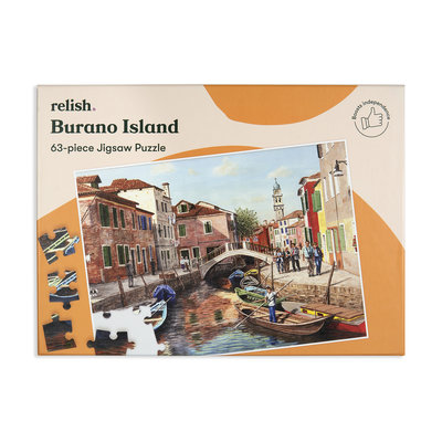 Puzzel - Burano eiland - 63 puzzelstukken - Jigsaw Puzzles