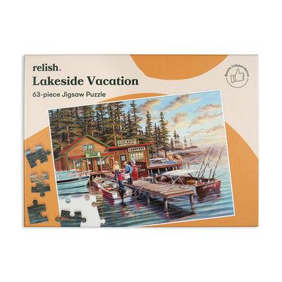 Puzzel - Vakantie aan het meer - 63 puzzelstukken - Jigsaw Puzzles