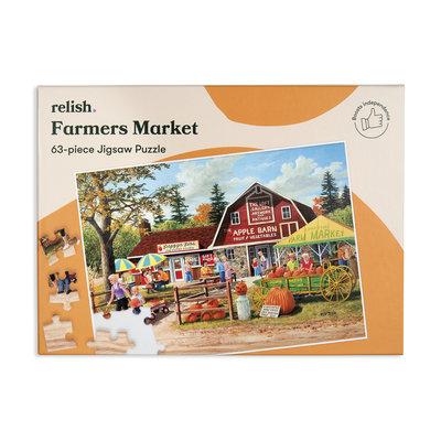 Puzzel - Boerenmarkt - 63 puzzelstukken - Jigsaw Puzzles