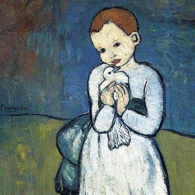 Puzzel - 24 XL stukjes - Picasso - Kind met duif