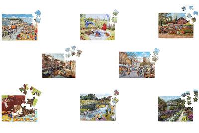Puzzel - Combinatiepakket - 8 puzzels met 35 en 63 stukjes - Jigsaw Puzzles