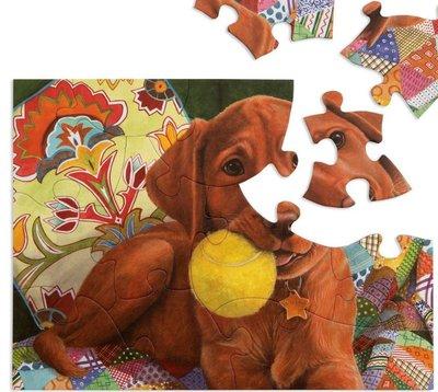 Puzzel - 13 XXL stukjes - Spelende Puppy