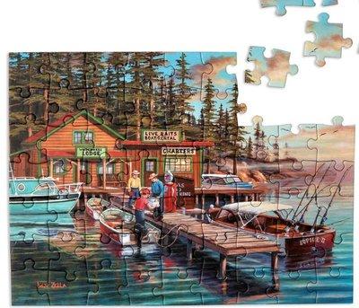 Puzzel - 63 XL stukjes - Vakantie aan het meer