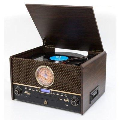 Radio - Nostalgisch muziek center - GPO CHESTERTONDAB (DAB+, Radio, CD, Bluetooth, Platen en Cassette))