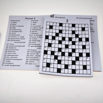 Grootletter Kruiswoordpuzzels - XL | Puzzelboek