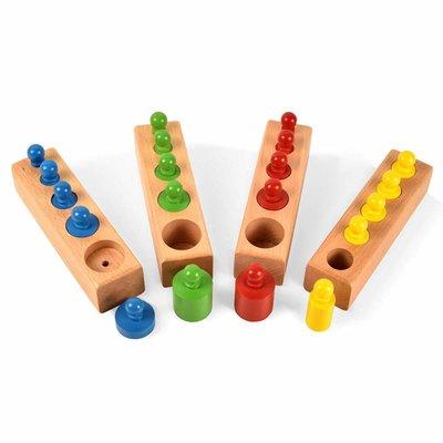 Cilinderblokken - Montessori - kleurrijk