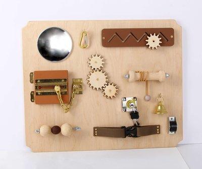Activiteitenplank - hout met zigzag - XL